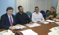Il momento della presentazione con il vicepresidente Mario Dalla Tor
