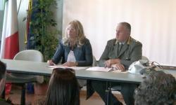 la presidente Zaccariotto con Lunardelli della polizia provinciale