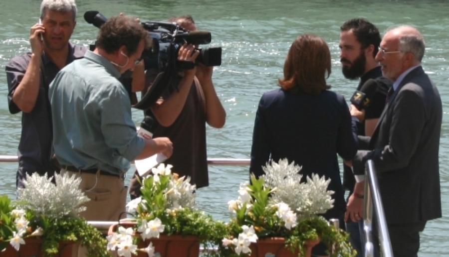 Venezia, il commissario Cesare Castelli all'approdo di Ca' Corner