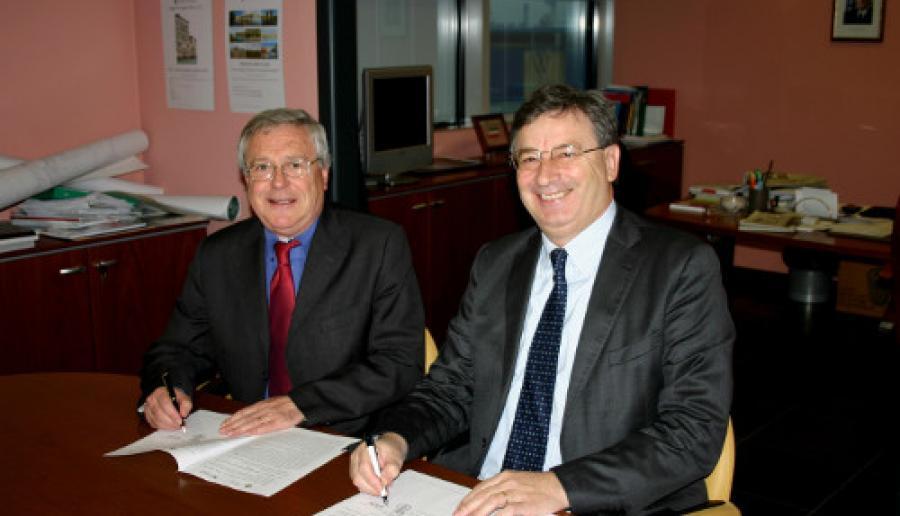 da sin.: il sindaco di Spinea Silvano Checchin e il vicepresidente Dalla Tor (foto: Mario Fletzer)