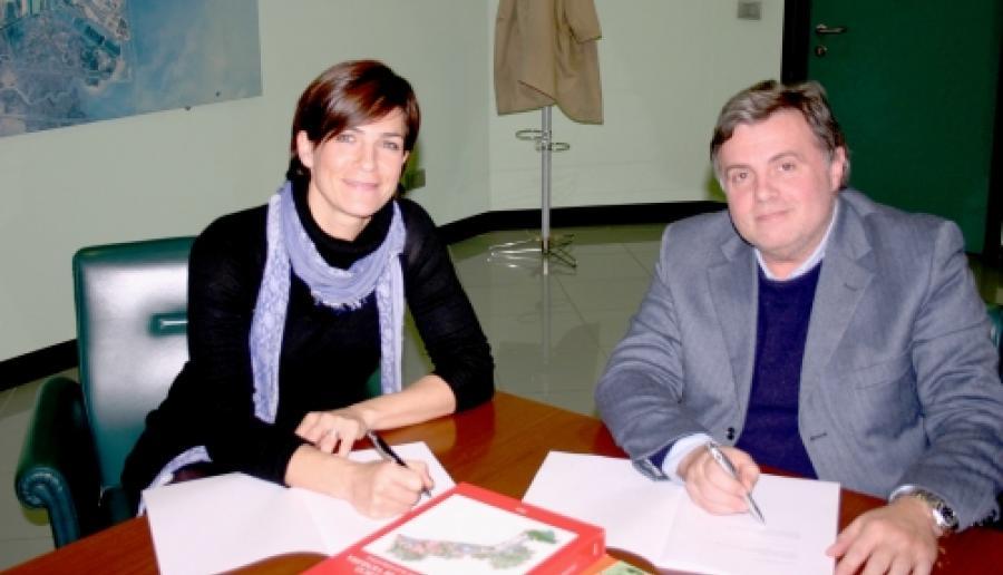 firmatari: Alessandra Zusso, vicesindaco Comune di Caorle e Paolo Dalla Vecchia, assessore provinciale all'ambiente