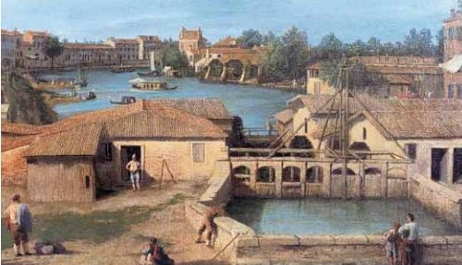 I Molini del Dolo (Canaletto, 1728)