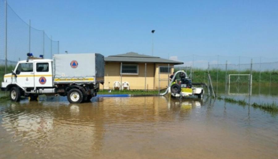la protezione civile veneziana in soccorso al nubifragio padovano